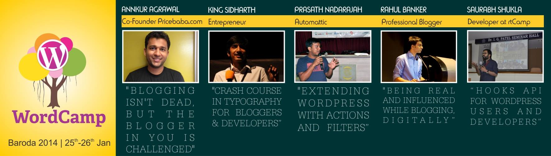 WordCamp Baroda 2014 speaker list 1